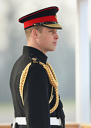 The Duke of Cambridge represents the Queen as the Reviewing Officer at The Sovereign's Parade at Royal Military Academy Sandhurst in Camberley.