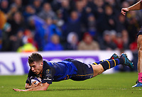 Rugby Union - 2017 / 2018 European Rugby Champions Cup - Pool Three: Leinster vs. Exeter Chiefs<br /> <br /> Leinster's Luke McGrath goes over for a try, at Aviva Stadium, Dublin.<br /> <br /> COLORSPORT/KEN SUTTON