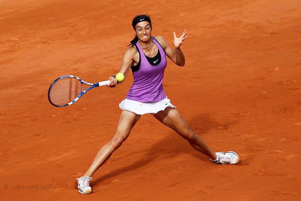 Roland Garros 2011. Paris, France. May 26th 2011..French player Caroline GARCIA against Maria SHARAPOVA