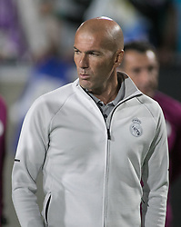 July 26, 2017 - Los Angeles, California, U.S - Coach, Zinedine Zidane of Real Madrid during their International Champions Cup game with Manchester City at the Los Angeles Memorial Coliseum in Los Angeles, California on Wednesday July 26, 2017. Manchester City defeats Real Madrid, 4-1. (Credit Image: © Prensa Internacional via ZUMA Wire)