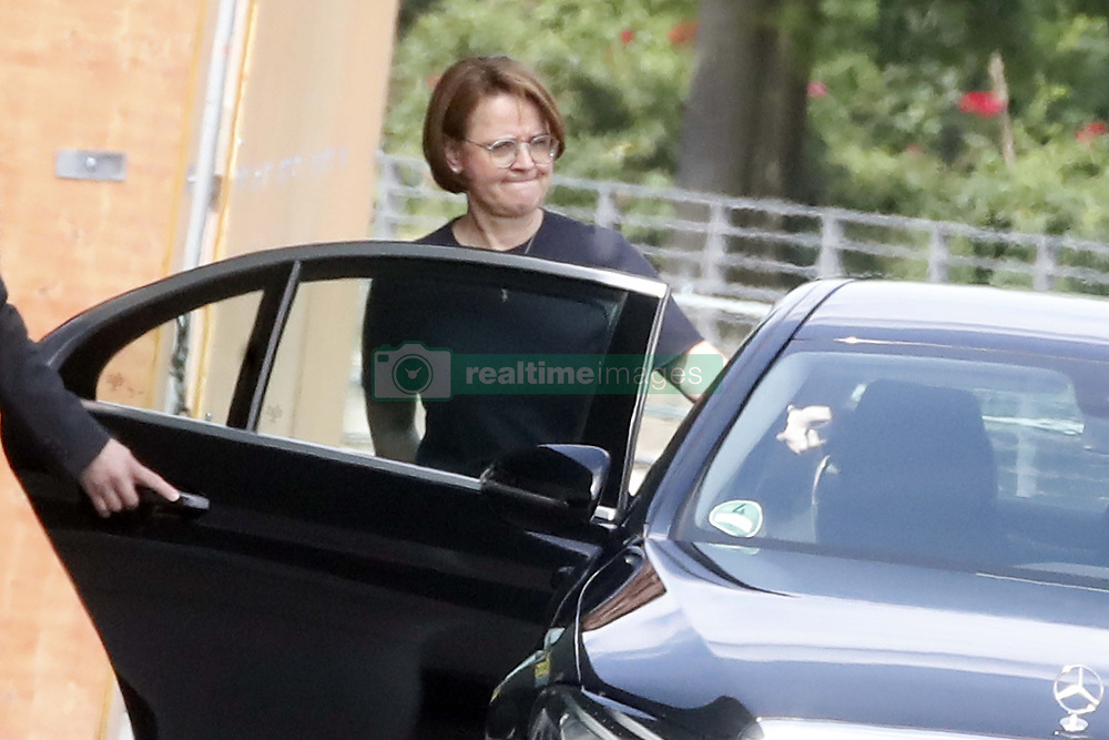 Germany, Berlin - June 14, 2018.Annette Widmann-Mauz, the national integration minister, leaves the Federal Chancellery in Berlin by car (Credit Image: © Darmer/Davids/Ropi via ZUMA Press)