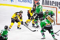 02.11.2014, Hala Tivoli, Ljubljana, SLO, EBEL, HDD Telemach Olimpija Ljubljana vs UPC Vienna Capitals, 16. Runde, in picture Matt Watkins (UPC Vienna Capitals, #10) vs Andy Chiodo (HDD Telemach Olimpija, #40) during the Erste Bank Icehockey League 16. Round between HDD Telemach Olimpija Ljubljana and UPC Vienna Capitals at the Hala Tivoli, Ljubljana, Slovenia on 2014/11/02. Photo by Matic Klansek Velej / Sportida