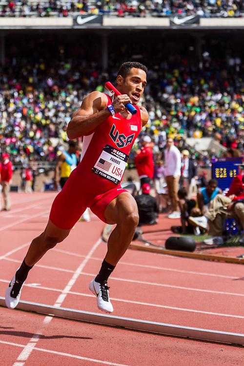 Penn RelaysUSA vs the World 4 x 400 meter relay, men