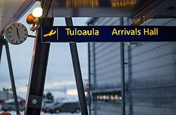 THEMENBILD - Besuch beim Weihnachtsmann, im Bild Aussenansicht des Flughafens Rovaniemi. Bild aufgenommen am 03.12.2013 am Flughafen in Rovaniemi, Finnland // Feature - Visiting the Santa Claus, Exterior of the airport Rovaniemi. Picture taken on 2013/12/03, Airport Rovaniemi, Finland. EXPA Pictures © 2013, PhotoCredit: EXPA/ JFK