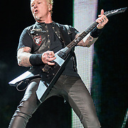 BALTIMORE, MD - May 10th, 2017 - James Hetfield of Metallica perform at M&T Bank Stadium in Baltimore, MD on the opening night of their Worldwired Tour 2017. The band released their tenth studio album, Hardwired... to Self-Destruct, in November 2016. (Photo by Kyle Gustafson / For The Washington Post)