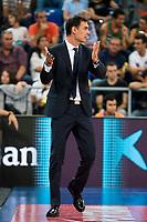 FC Barcelona Lassa coach Georgios Bartzokas during the final of Supercopa of Liga Endesa Madrid. September 24, Spain. 2016. (ALTERPHOTOS/BorjaB.Hojas)