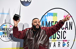 DJ Khaled poses in the press room during the 2017 American Music Awards at Microsoft Theater on November 19, 2017 in Los Angeles, California. Photo by Lionel Hahn/AbacaPress.com