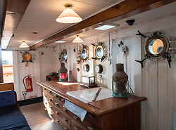 Interior of chart  Room on the RSS Discovery ship berthed at Discovery Point in Dundee ,Tayside, Scotland,