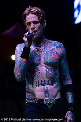 Lead singer Josh Todd and Buckcherry play the Iron Horse stage during the 78th annual Sturgis Motorcycle Rally. Sturgis, SD. USA. Monday August 6, 2018. Photography ©2018 Michael Lichter.