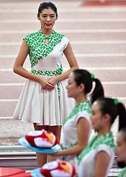30-08-2015 CHN: IAAF World Championships Athletics day 9, Beijing <br /> Huldiging hoogspringen medaille ceremonie<br /> Photo by Ronald Hoogendoorn / Sportida