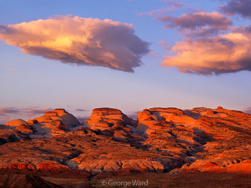Capitol Reef and Cloud at Dawn, Capitol Reef National Park, Utah