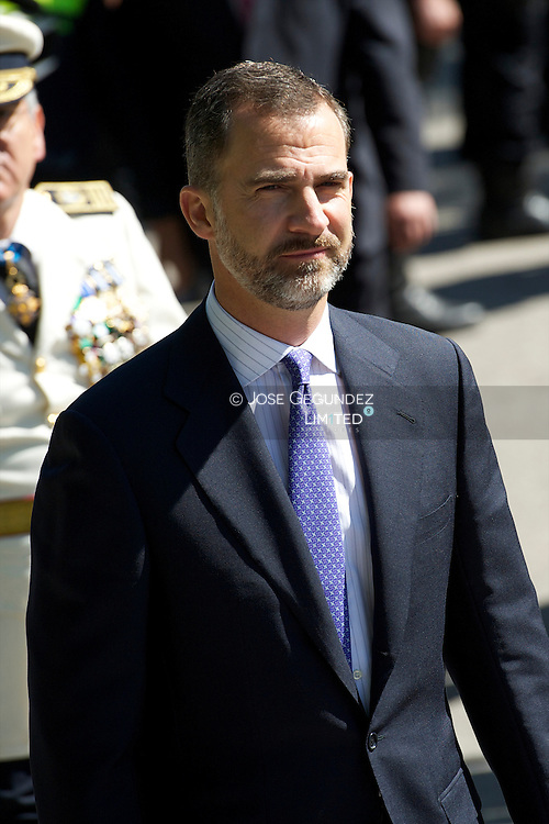 Prince Felipe of Spain attends the Celebration of the 175th anniversary of the Municipal Police of Madrid at Parque del Retiro on June 24, 2013 in Madrid
