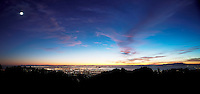 Sunset view of San Francisco and Oakland from Berkeley Hills