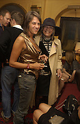 Tracey Emin and Anita Pallenberg, Stella McCartney shop opening after-party, Annabels, Berkeley Sq.  London. 15 May 2003. © Copyright Photograph by Dafydd Jones 66 Stockwell Park Rd. London SW9 0DA Tel 020 7733 0108 www.dafjones.com