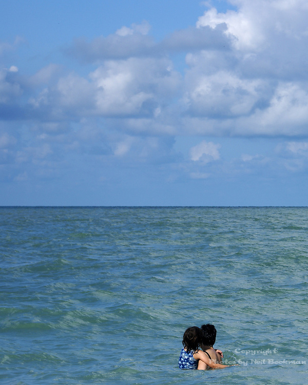 My ex-wife and daughter looking out at the Gulf of Mexico.
