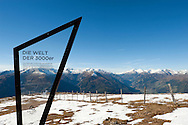 Looking towards the Hohe Tauern from the summit of Tschiernock (2088m), Nockberge National Park, a UNESCO Biosphere Reserve. Alpe Adria Trail, Carinthia, Austria (October 2015) © Rudolf Abraham
