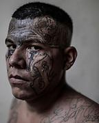 Edilsson Evaristo Oliva 27 años<br />Retratos de Pandilleros de la Carcel San Francisco Botera