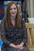 Author Holly Bourne during day three of the London Book Fair on the 14th March 2019 at London Olympia in the United Kingdom. Holly Bourne is a British author of young adult fiction. She is the author of best-selling novel Am I Normal Yet? and several other critically acclaimed books.