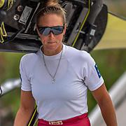 Emma Twigg , New Zealand elite Womens Single Scull<br /> <br /> Training on Thursday 11 July 2019 at the Willem Alexander Baan,  Zevenhuizen, Rotterdam, Netherlands. Thursday 11 July 2019. © Copyright photo Steve McArthur / www.photosport.nz