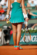 Legs of Kristina MLADENOVIC (FRA) with clay and sweat during the Roland Garros French Tennis Open 2017, on May 29, 2017, at the Roland Garros Stadium in Paris, France - Photo Stéphane Allaman / ProSportsImages / DPPI