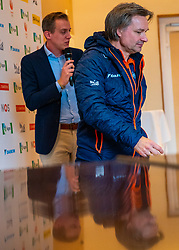 Coach Jeroen Otter during the press conference for ISU World Cup Finals Shorttrack 2020 on February 12, 2020 in Museum Dordrecht.