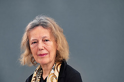 "Edinburgh, Scotland, UK. 27 August, 2018. Pictured; Claire Tomalin is an English author and journalist, known for her biographies on Charles Dickens, Thomas Hardy, Samuel Pepys, Jane Austen, and Mary Wollstonecraft. The former Sunday Times literary editor has turned the spotlight on herself to produce ""A Life of My Own"", a moving memoir of love and loss that also offers great insight into the world of literature."