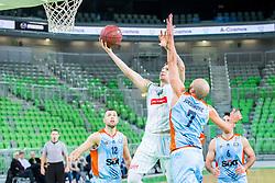 Gregor Hrovat during basketball match between KK Petrol Olimpija and KK Sixt Primorska in Playoffs of Liga Nova KBM, on March 30, 2018 in Arena Stozice, Ljubljana, Slovenia. Photo by Ziga Zupan / Sportida