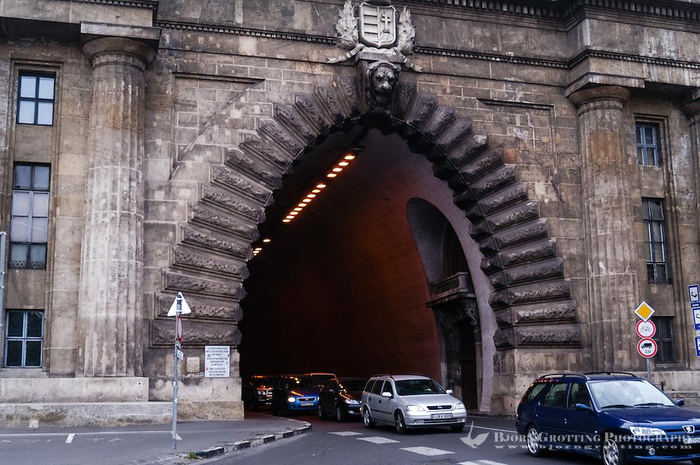 Budapest, Hungary.  Adam Clark Tunnel, Váralagút.