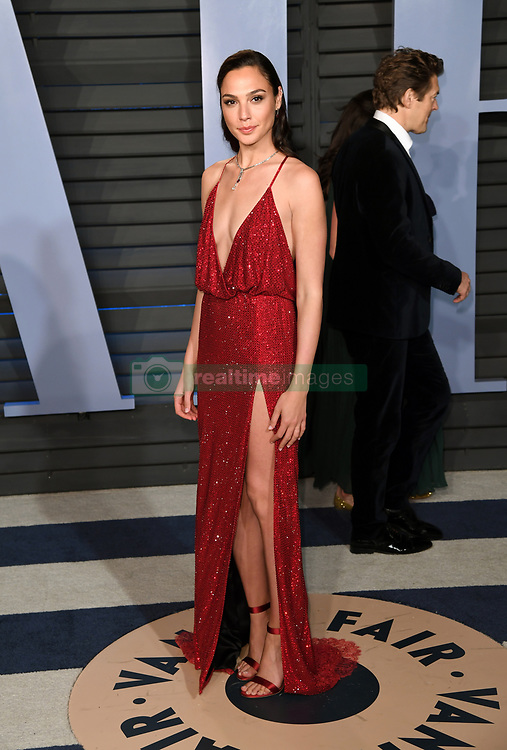 Gal Gadot arriving at the Vanity Fair Oscar Party held in Beverly Hills, Los Angeles, USA.