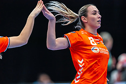 Lois Abbingh of Netherlands in action during the Women's EHF Euro 2020 match between Netherlands and Germany at Sydbank Arena on december 14, 2020 in Kolding, Denmark (Photo by RHF Agency/Ronald Hoogendoorn)