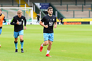 Jordan Moore-Taylor (15) of Forest Green Rovers warming up ahead of the Pre-Season Friendly match between Yeovil Town and Forest Green Rovers at Huish Park, Yeovil, England on 31 July 2021.