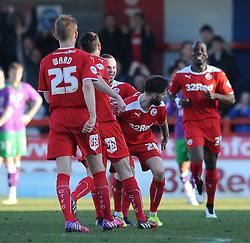 Crawley's Anthony Wordsworth celebrates his goal. - Photo mandatory by-line: Dougie Allward/JMP - Mobile: 07966 386802 - 07/03/2015 - SPORT - Football - Crawley - Broadfield Stadium - Crawley Town v Bristol City - Sky Bet League One