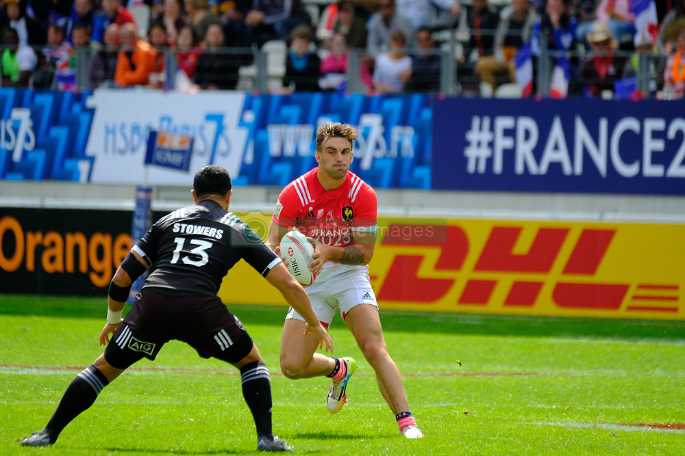 May 14, 2017 - Paris, France - JEAN PASCAL BARRAQUE of the French team During the match against New Zealand of HSBC World Rugby Sevens Series at Jean Bouin stadium of Paris France.New Zealand beats France 14-0 (Credit Image: © Pierre Stevenin via ZUMA Wire)