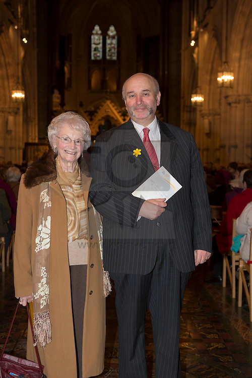 May Ryan and John McCormack CEO, Irish Cancer Society pictured at the Irish Cancer Society 50th Anniversary Ecumenical Service in Christ Church Cathedral Dublin. Picture Andres Poveda