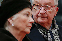 Belgian Queen Paola and King Albert II, who abdicated earlier this year, attend the Te Deum mass, on the occasion of the King's Feast, at the Saint Michael and St Gudula Cathedral in Brussels, Belgium, 15 November 2013.