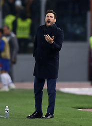 February 12, 2019 - Rome, Italy - AS Roma v FC Porto : UEFA Champions League Round of 16 .Eusebio Di Francesco manager of Roma at Olimpico Stadium in Rome, Italy on February 12, 2019. (Credit Image: © Matteo Ciambelli/NurPhoto via ZUMA Press)