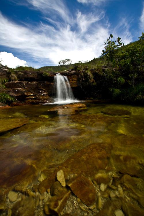 Alto Paraiso de Goias_GO, Brasil...Cachoeira no Parque Nacional da Chapada dos Veadeiros...The waterfall in Parque Nacional da Chapada dos Veadeiros...Foto: JOAO MARCOS ROSA /  NITRO..
