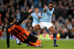Manchester City's Raheem Sterling (right) and Shakhtar Donetsk's Ismaily battle for the ball