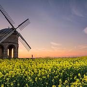 Chesterton Windmill at sunset.