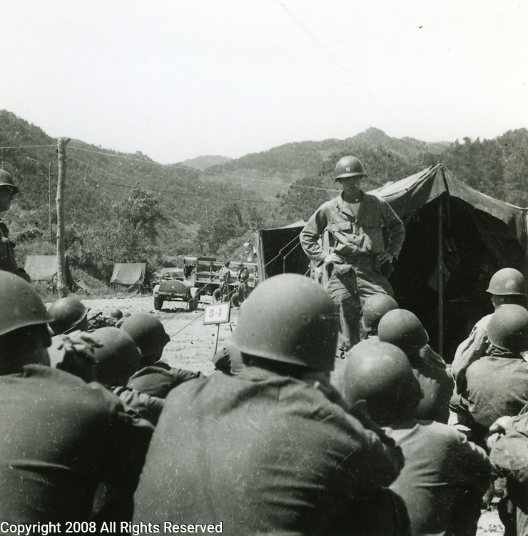 Members of the 2nd Infantry Division during the Korean War in 1950 or 1951.