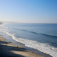 USA, California, Cardiff by the Sea. Swami's Beach in Cardiff by the Sea (Encinitas), north county San Diego.