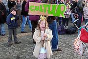 Nederland, Nijmegen, 20-11-2010In Nijmegen demonstreerden 1700 mensen tegen de bezuinigingen door het kabinet Rutte op cultuur. De schreeuw om kultuur.Foto: Flip Franssen/Hollandse Hoogte