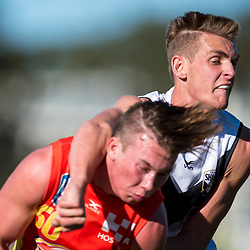 BRISBANE, AUSTRALIA - JULY 22:  during the NEAFL Round 17 match between Southport Sharks and Gold Coast Suns at Fankhauser Reserve on July 22, 2017 in Brisbane, Australia. (Photo by Patrick Kearney/Patrick Leigh Perspectives)