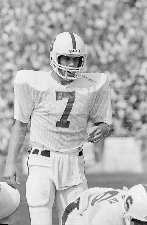 COLLEGE FOOTBALL:  Stanford vs Purdue on Septberm 12, 1981 at Ross-Ade Stadium in Bloomington, Indiana.  John Elway #7.  Photograph by David Madison ( www.davidmadison.com ).