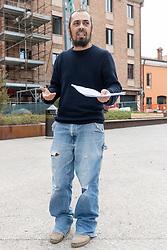 LUCA GRECO<br /> EMERGENZA CORONAVIRUS CONFERENZA CGIL FERRARA ALL'APERTO IN PIAZZA VERDI
