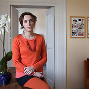 Napoli, Italy, February 5, 2014. Valeria Parrella, Italian writer at her home in Naples.