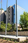 Anaheim City Hall Seen From Friendship Plaza