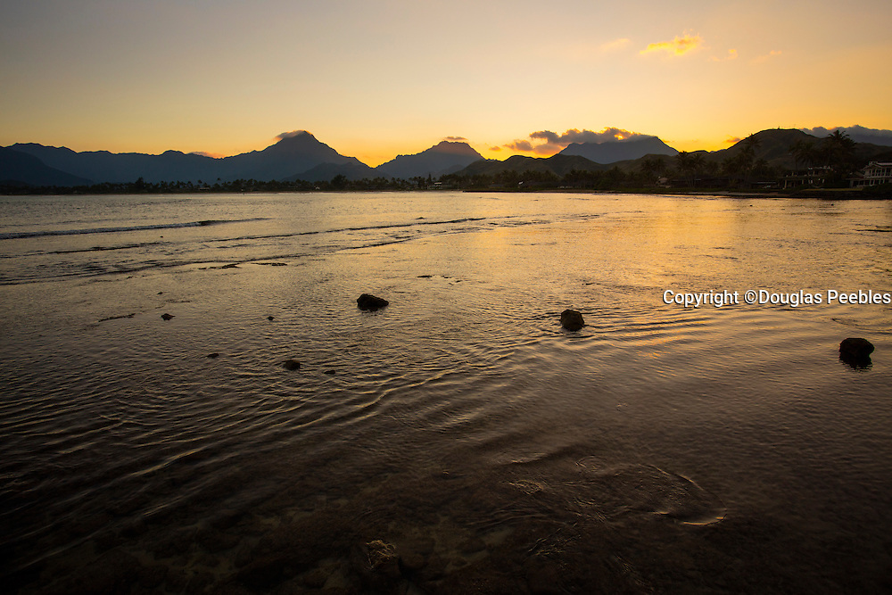 Sunset, Kailua Beach, Oahu, Hawaii
