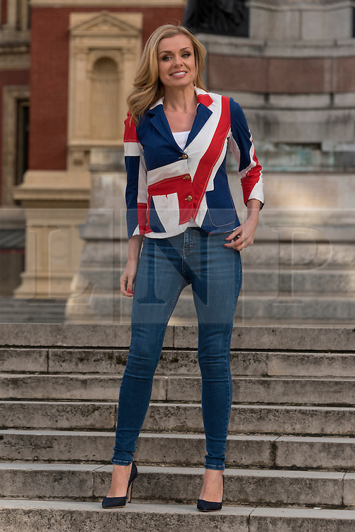 © Licensed to London News Pictures. 30/03/2016. Welsh classical crossover artist KATHERINE JENKINS attends a photocall on the South Steps of the Royal Albert Hall  to announce her role in The Queen's 90th birthday celebrations, which includes performing at the Windsor Castle event and releasing a special version of the national anthem. London, UK. Photo credit: Ray Tang/LNP