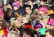 Dutch Prince Willem-Alexander, Princess Maxima, Princess Amalia, Princess Alexia and Princess Ariane attend the arrival of Sint Nicolas at the harbor of Scheveningen, The Hague, The Netherlands, 14 november 2009. Photo: Patrick van Katwijk